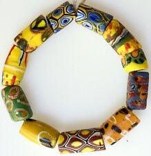 11 Mixed Venetian Millefiori & Other Trade Beads - African Trade Beads