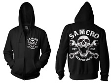 Original Reaper Crew SAMCRO Sons of Anarchy Official Adult ZIPPED Hoodie (black) XL