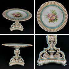 More details for excellent brown westhead moore large tazza cake stand — paris shape c. 1870 vgc