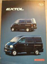 DAIHATSU EXTOL VAN CAR  SALES BROCHURE NOVEMBER 2003