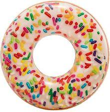 Bouée Originale Donut Sucré 114 cm Loisirs Adultes Enfants Piscine Jeux Loisirs