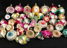Antique Christmas Ornaments - Set of 28 Inset Indented Mercury Glass Assortment