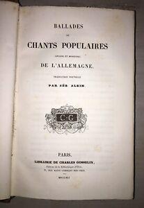 Sébastien ALBIN - Ballades et chants populaires de l'Allemagne - 1841