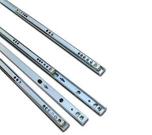 4 Pairs Metal Ball Bearing Drawer Runner Pr 350 mm Draw Depth for 17 mm Grooves