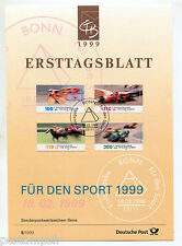 ALLEMAGNE FEDERALE, RFA, 1999, SPORTS, 4 timbres, 1863/1866, DOCUMENT 1° JOUR