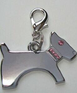NEW Diva Dog Jewelry Gift Dog Pet PINK Encrusted Dog Collar Charm Lobster Clasp