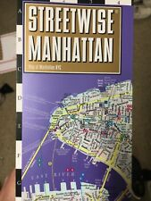 LAST ONE! Streetwise Manhattan New York Laminated Folding City Center Street Map