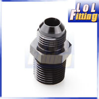 AN-10 AN10 10AN to 3/4'' NPT Straight Adapter Fitting Aluminum Black