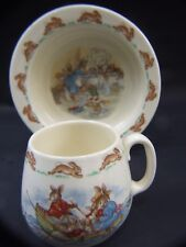 Vintage Royal Doulton  Bunnykins  Fine Bone  China  Baby Bowl and Cup