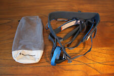 Black Diamond Chaos Rock Climbing Harness Size Small S with Storage Bag NEW