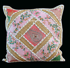 Indian Handmade 16X16 zari Cotton Hippie Bohemian Sofa Cushion Cover Home Decor
