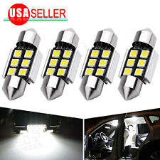 4Pcs White 31mm 3030 6SMD Festoon Interior Dome Map Trunk Cargo LED Light Bulbs