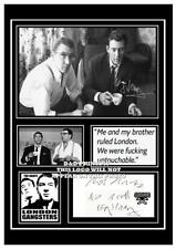 (#75) the krays ronnie and reggie kray signed a4 photograph (reprint) grt gift