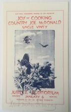 1973 Joy Of Cooking Handbill Jubilee Auditorium Calgery Canada Signed