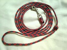 Paracord small dog leash hand made color Confederate (6 foot)