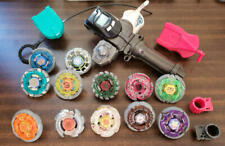Takara Tomy Beyblade Huge Lot of 12 Rare Metal Fight with Launcher