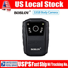 BOBLOV HD 1080P Body Worn Camera 32GB IR Night Vision Police Safety Cam Recorder