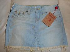$172 NWT True Religion Demin Jean short mini Sadie skirt Size 27