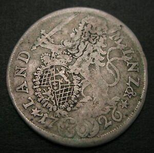 BAVARIA (German State) 30 Kreuzer 1726 - Silver - 506