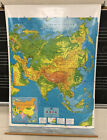 VINTAGE PULL DOWN SCHOOL ASIA LAND FORM MAP 1989/90