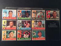 1960 Topps St. Louis Cardinals 10 Baseball Card Lot - Bob Gibson Set Break