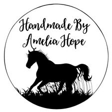 Sello de goma Láser Personalizados-hecho a mano por caballo silueta
