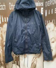 "Men's Firetrap Jacket Hood Shell Blue Logo Sports Lightweight Large 42"" Bearing"