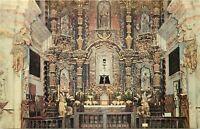 Chrome Postcard AZ H506 High Altar Interior Mission San Xavier Father Kino