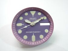 NEW REPLACEMENT SEIKO PURPLE DIAL / HANDS FITS SEIKO SKX013 MEDIUM DIVER'S WATCH
