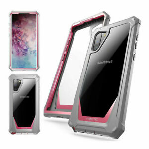 For Samsung Galaxy Note 10 Phone Case Support Wireless Charging Cover Pink