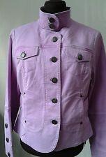 Nine West Womens Military Style Lilac Purple Jacket NINE & CO Weekend Sz 4