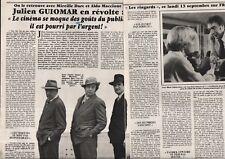 Coupure de presse Clipping 1982 Julien Guiomar  (2 pages)
