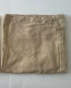 Ralph Lauren Herringbone Euro Square Pillow Sham Linen Beige 24x24