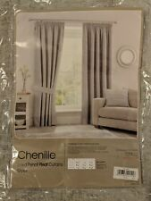 Dunelm lined curtains pencil pleat silver chenille