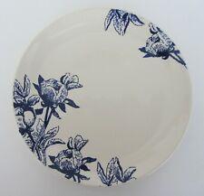 "New listing Baum Botanical Ivory & Blue Flowers Salad Plates 8"" round Set of 4 New"