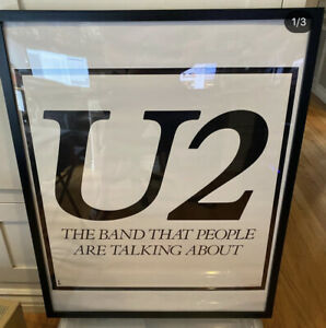 U2 - THE BAND THAT PEOPLE ARE TALKING ABOUT - ORIGINAL PROMO POSTER (1980)