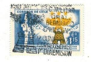 Chile 1972 Escuela Militar MNH with First Day Postmark (A284)