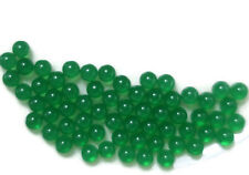 #1641C Vintage Glass Balls 4mm Eyes Emerald Round No Hole Marbles Solid NOS