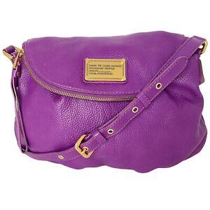 Marc by Marc Jacobs Classic Q Natasha Purple Pebbled Leather Crossbody Bag