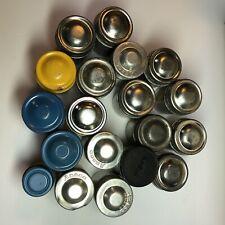 Lot of 20 Vintage 35mm Film Canisters Kodak Aluminum Metal Lid Tins Empty