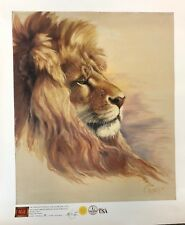 "Giclée: ""KING of the BEASTS"" by Clancy Cherry Canvas Print by IGI - Limited-Ed.!"