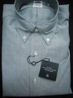 Brooks Brothers Oxford Shirt BD Collar Green Slim Fit Supima Cotton NWT $140 USA