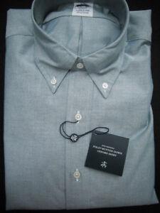 Brooks Brothers Oxford Shirt Green Slim Fit Supima Cotton NWT $140 USA New