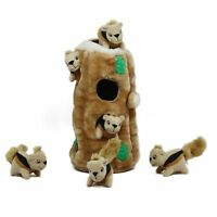 Hide a Squirrel Fun Hide and Seek Interactive Puzzle Plush Dog Toy by Outward