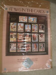 JOHNNY BENCH 1989 Poster of All His Topps Baseball Cincinnati Reds