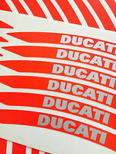 DUCATI  MOTORCYCLE WHEEL RIM STICKERS TRIM ITALIAN RED REFLECTIVE VINYL