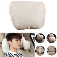 "Car Ultra Soft Adjustable Beige Headrest 29""x19"" Head Neck Rest Pillows Cushion"
