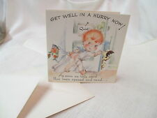 Vintage Unused Hot'N'Tots Pop up Card Get Well in a Hurry Jump Out of Bed