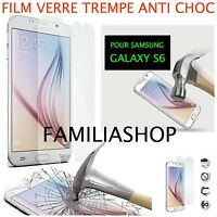 Film de Protection Écran en Verre Trempé Anti Chocs pour Samsung Galaxy S6