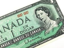 1967 Canada One 1 Dollar Centennial Canadian Uncirculated Banknote L922